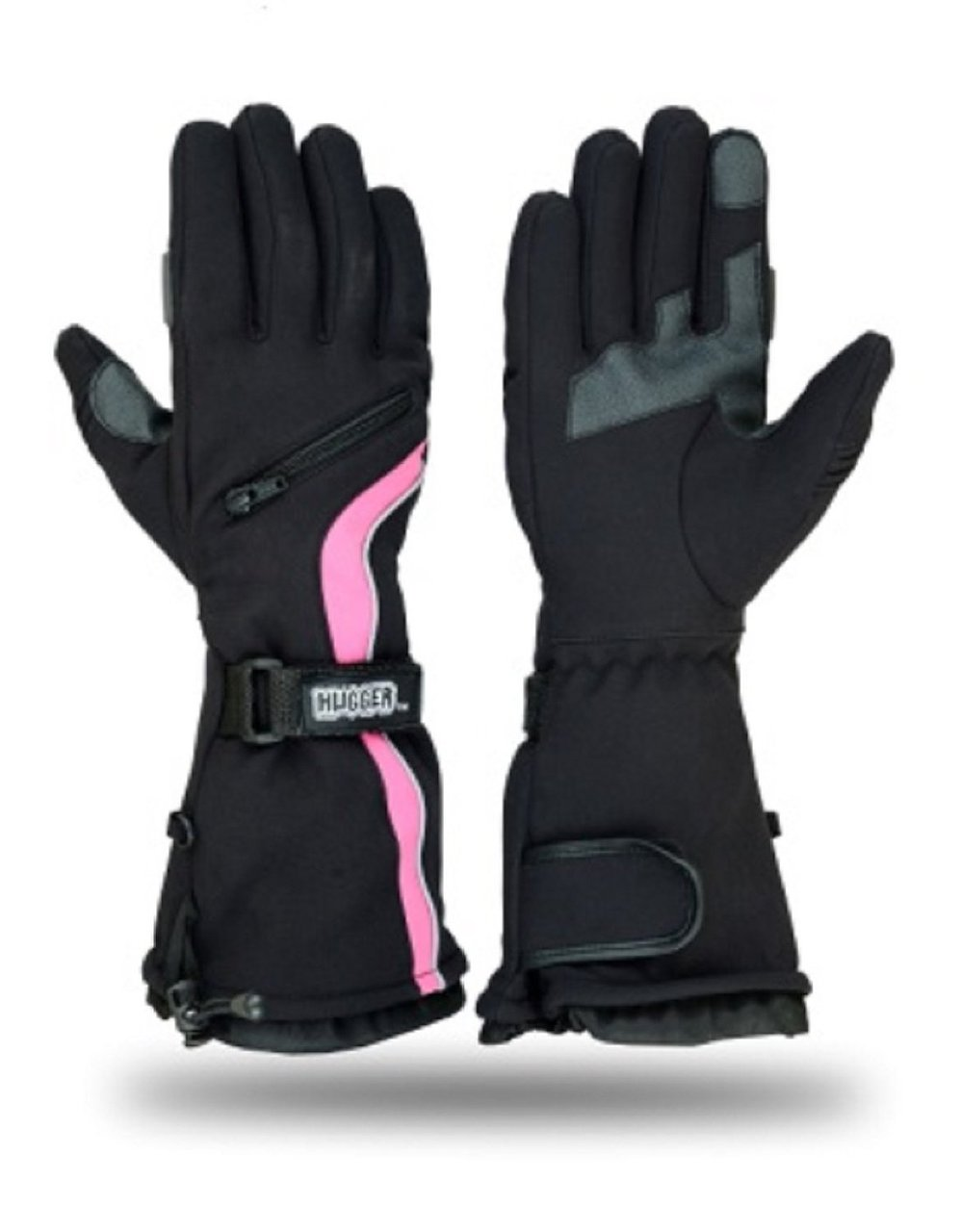 Hugger women's Textile Guantlet Snowmobile Gloves Ski Driving Winter Riding Hand Protection