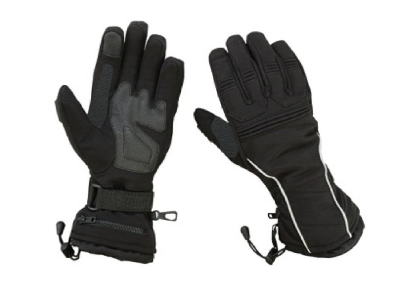 Hugger Women's Textile Gauntlet Snowmobile Ski Driving Winter Gloves