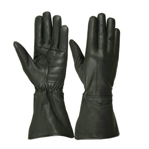 Ladies Water Resistant Deerskin Gauntlet Glove