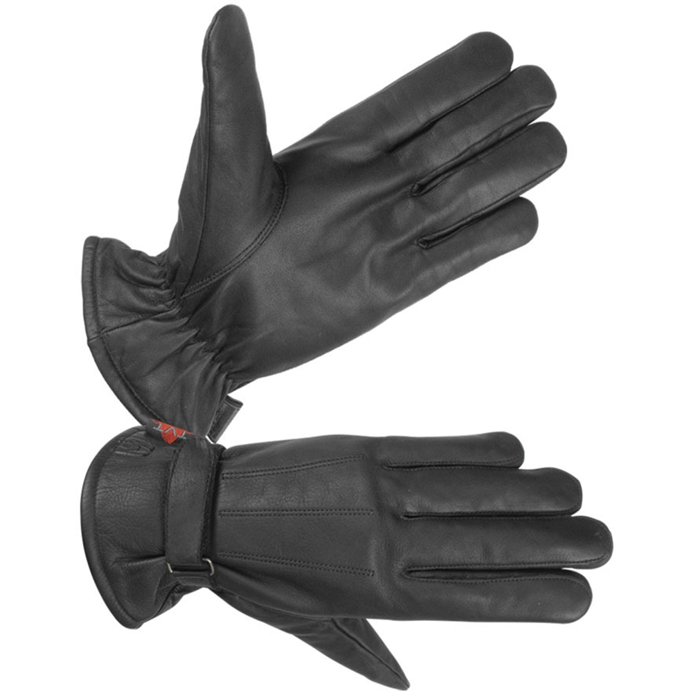 "Men's Lined Water Resistant Technaline Leather, Classic Riding Gloves with Waterproof ""Wonder Dry"" Liner (M.CRG-L)"