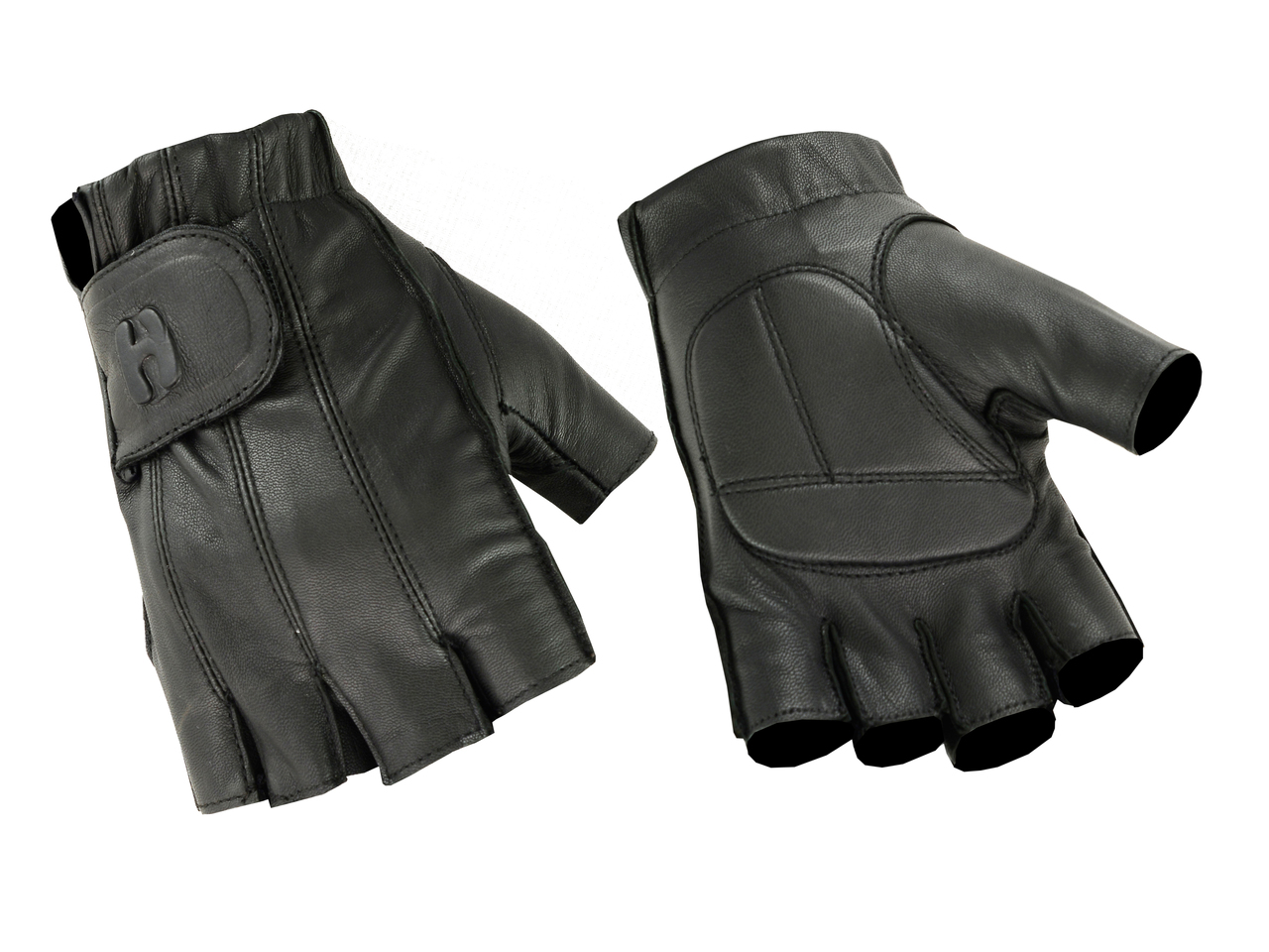 Ladies Fingerless Technaline Leather, Color Gel Palm Gloves (L.WPGPG)