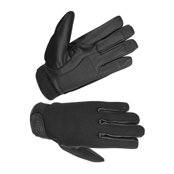 Hugger Ladies Neoprene All Weather Shooting, Pat Down Police Gloves Unlined Water Resistant (L.WDRY)