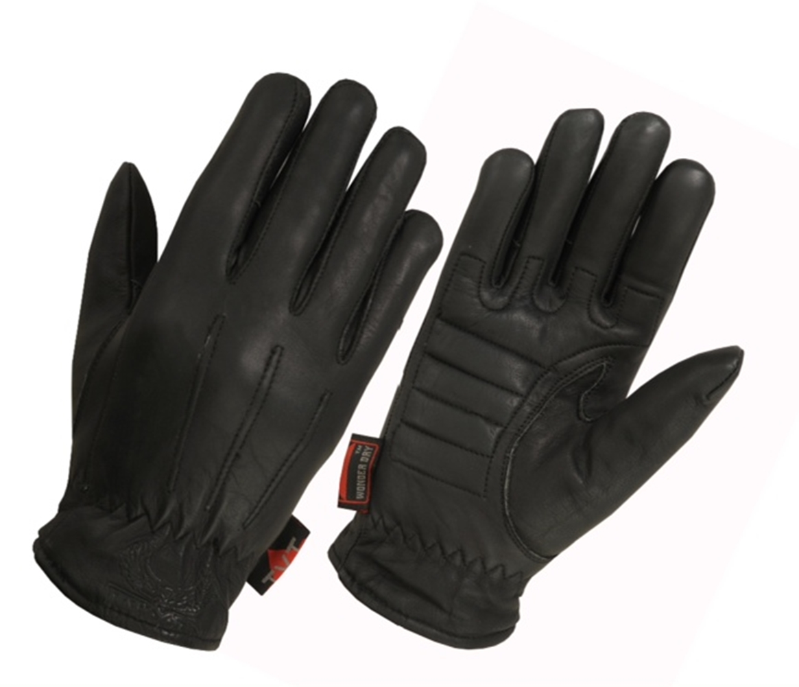 "Ladies Lined Premium Water Resistant Technaline Leather, Basic Riding Gloves with Waterproof ""Wonder Dry"" Liner (L.WKBRG)"