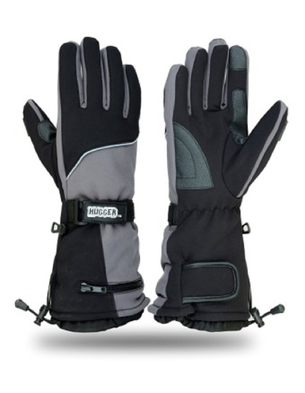 Hugger Glove Men's Textile Gauntlet Snowmobile Gloves or Motorcycle Gloves