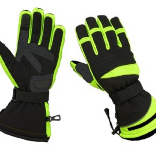 Hugger Men's Motorcycle Snowmobile Gloves Ski Textile Protection Winter Driving