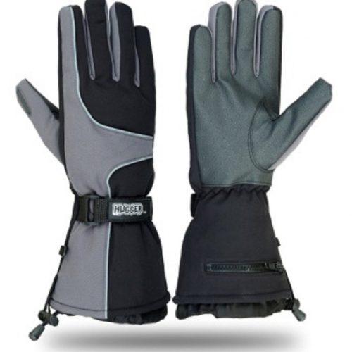 Hugger Glove Company Men's Textile Gauntlet Snowmobile Gloves 200 Grams Insulation