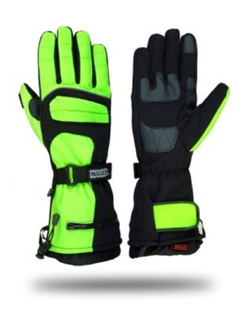 Hugger Winter Men's Textile Gauntlet Snowmobile Ski Gloves Winter Driving
