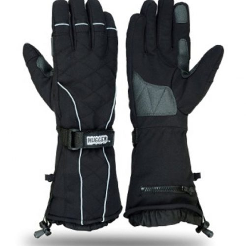 Hugger Snowmobile Textile Gauntlet Ski Gloves Winter Motorcyle Men's Skiing Glove