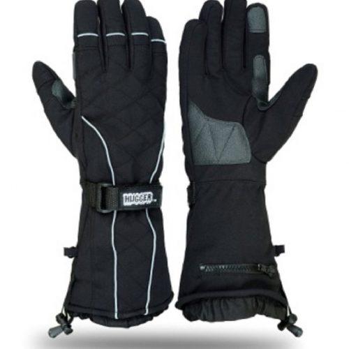 Hugger Snowmobile Textile Gauntlet Ski Gloves Winter Motorcyle Men's Skiing Glove