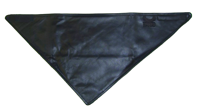 Bandana Style, Fleece Lined Leather Scarf, Water Resistant Technaline Leather (A.ALS)