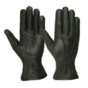 Men's Deerskin Three Seam Padded Palm Gloves