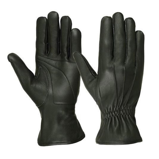 Men's Water Resistant Deerskin Three Seam Padded Palm Gloves