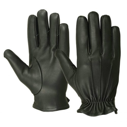 Men's Water Resistant Deerskin Three Seam Short Gloves