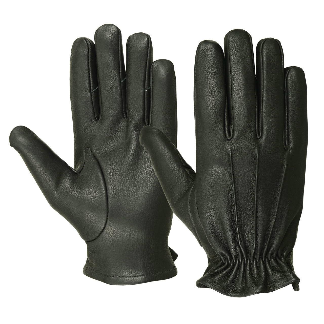 Men's Water Resistant Deerskin Three Seam Short Gloves