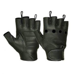 Men's Water Resistant Deerskin Perforated Fingerless Gloves