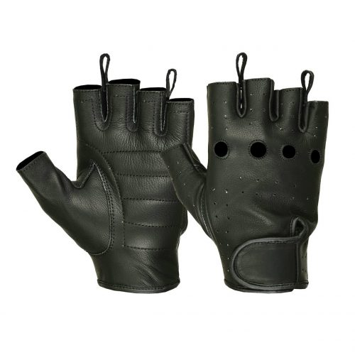 Men's Water Resistant Deerskin Perforated Fingerless Gloves