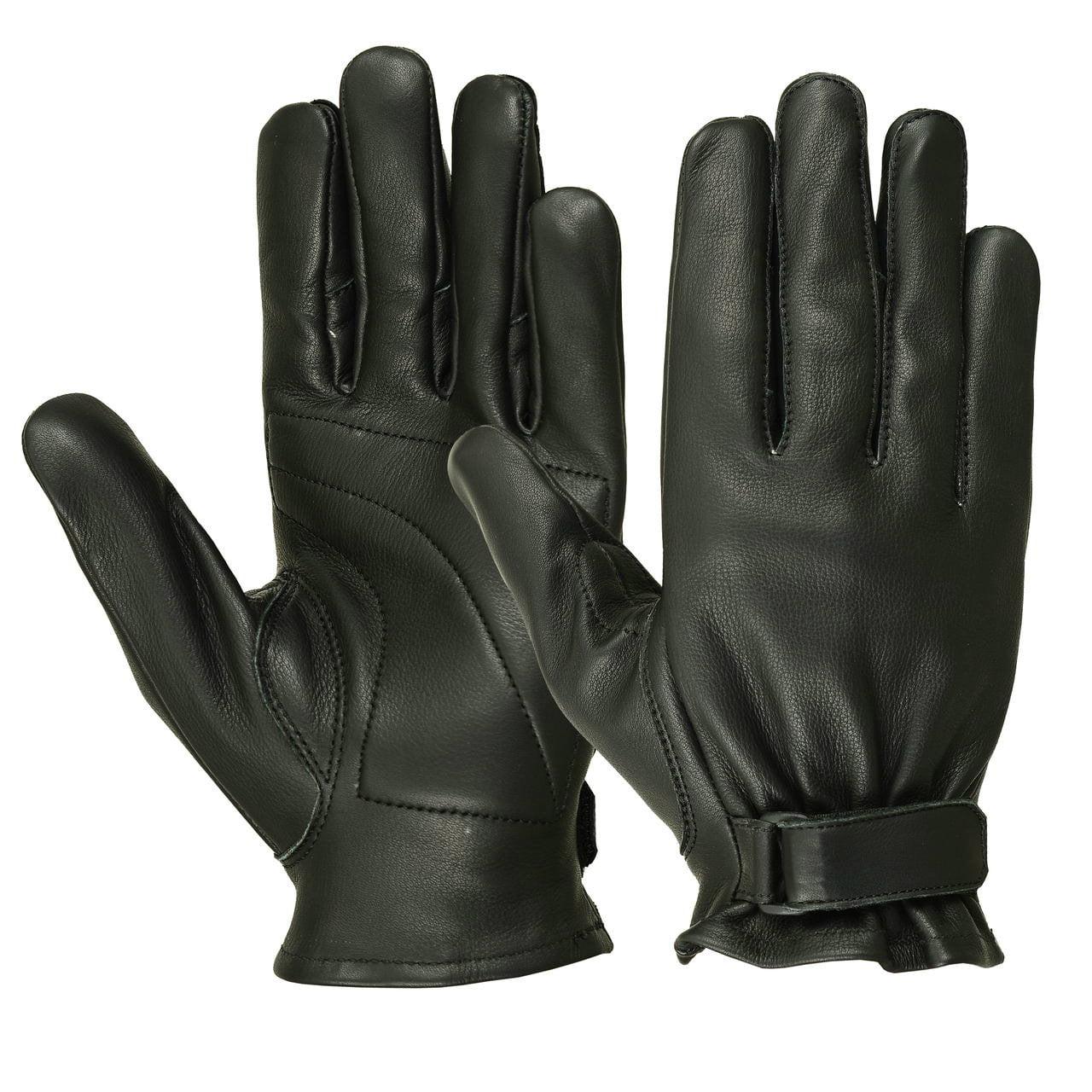 Men's Water Resistant Deerskin Seamless Padded Palm Gloves