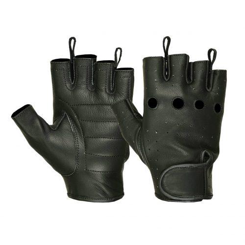 Ladies Water Resistant Deerskin Fingerless Gloves