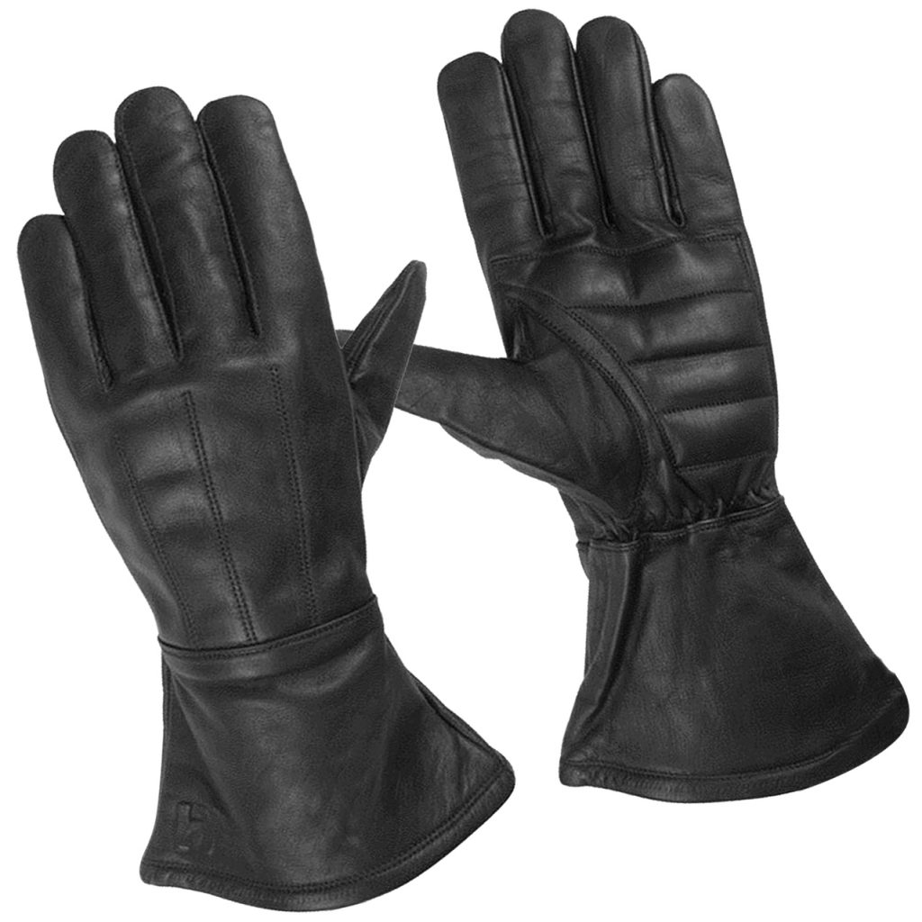 Hugger Men's Classic Motorcycle Gloves Unlined Seasonal Wind Stopper Gauntlet