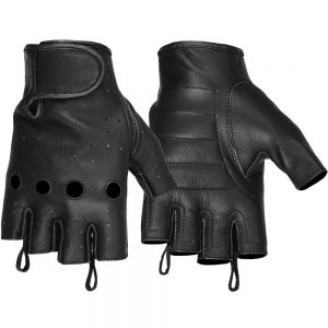 Hugger Affordable Unlined Fingerless Summer Riding Motorcycle Gloves