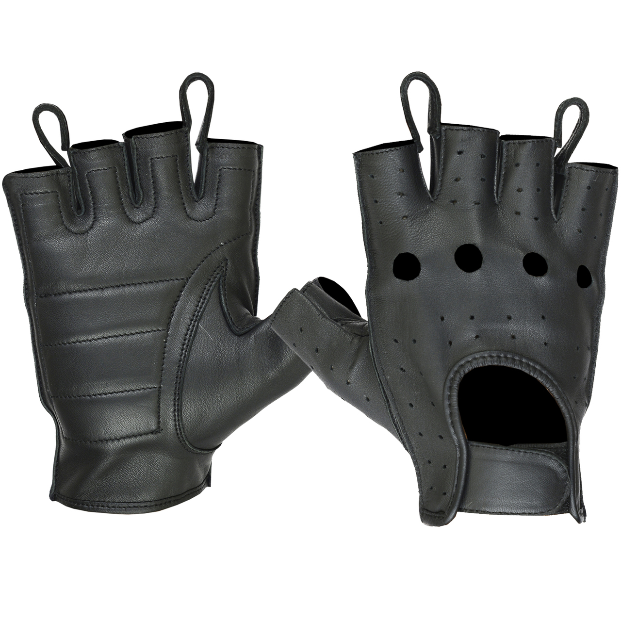 Ladies Unlined Water Resistant Technaline Leather, Quick Dry Color Insert Perforated Gloves (L.WPCIG)