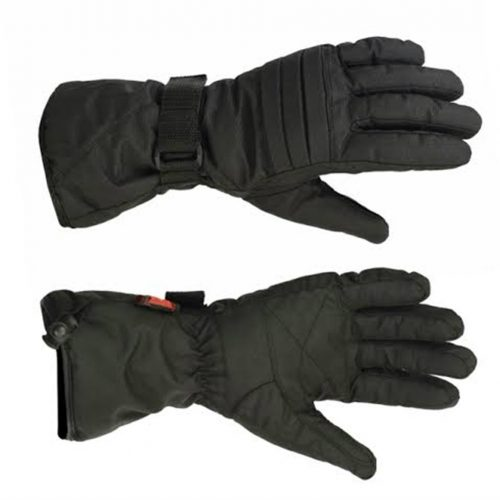 Men's Lined Textile Gauntlet Gloves, Weatherproof, Windproof, Water Resistant, Cold Stop Insulation, Wonder Dry Insert (M.TG-L)