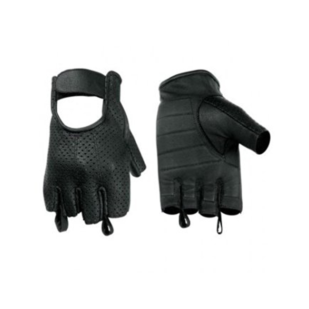 Hugger Affordable Men's Weatherlite Fingerless Motorcycle Gloves