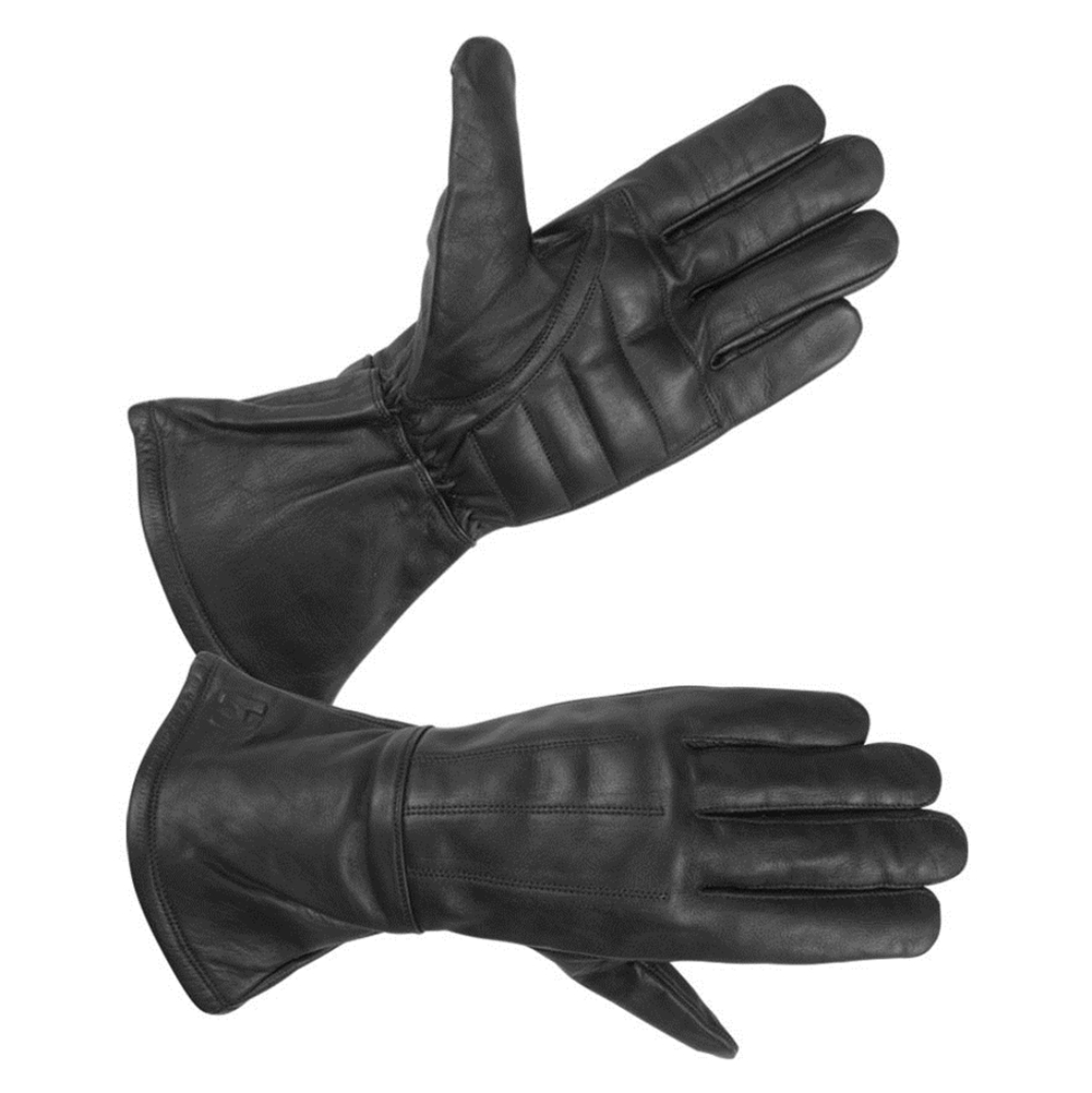 Men's Lined Technaline Leather, Classic Gauntlet Gloves, Water Resistant (M.CGL)