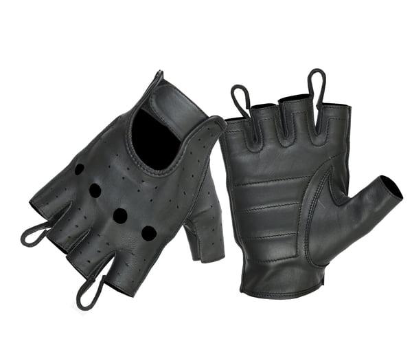 Parisi SHORT fingerless leather gloves Guanti pelle  Leder handschuhe fingerlose