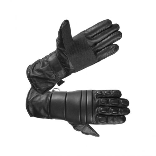 Men's Long Leather Riot Gloves