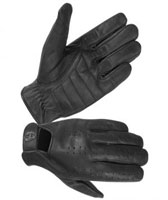 Men's Unlined Perforated Leather Gloves with Padded Palm