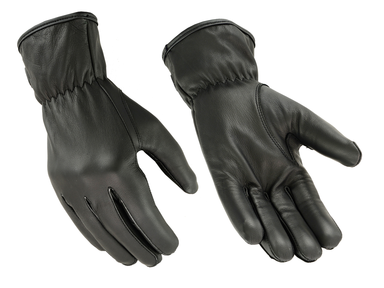 Men's Unlined Technaline Leather, Basic Seamless Riding Gloves, Water Resistant (M.BSRG)