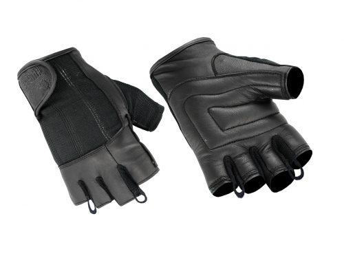 Hugger Deersoft Fingerless Summer Touring Choppers Motorcycle Gloves