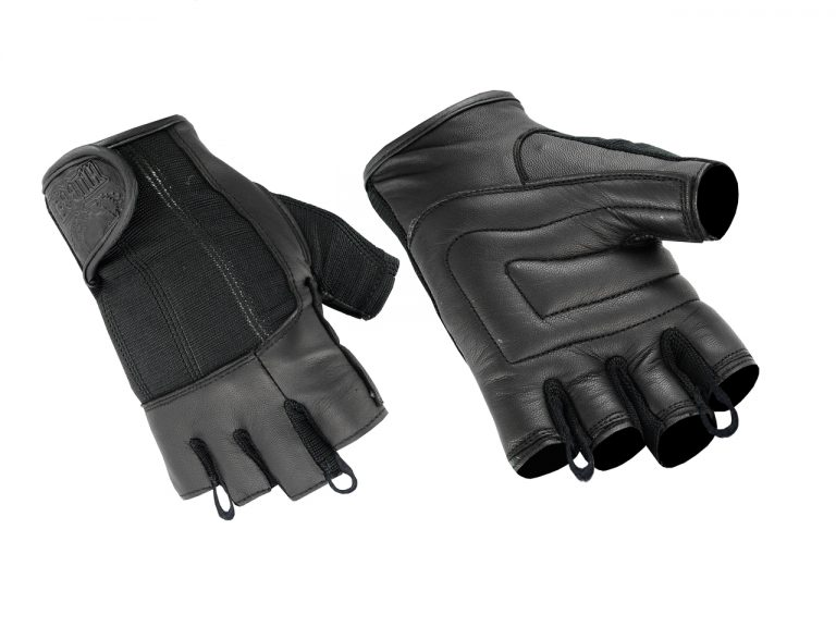 Hugger Deersoft Fingerless Summer Touring Choppers Motorcycle Gloves