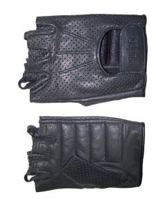 Men's Fingerless Technaline Goatskin Leather, WeatherLite Chopper Gloves (M.WLC)