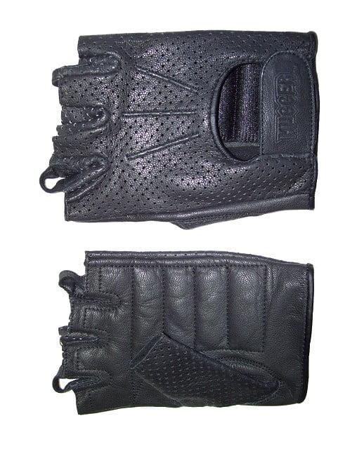 Men's Fingerless Technaline Goatskin Leather, WeatherLite Chopper Gloves (M.WLC)