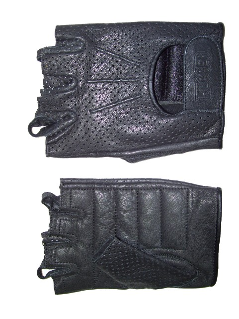Ladies Fingerless Technaline Goatskin Leather, WeatherLite Chopper Gloves (L.WWLC)
