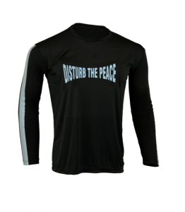 Men's Reflective Shirt -Disturb the Peace-Front