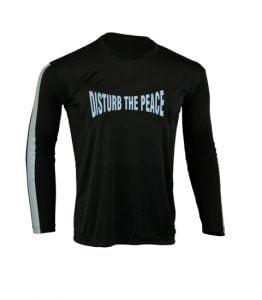 Men's Reflective Shirt -Disturb the Peace-Front