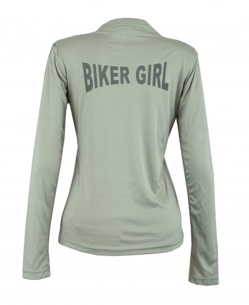 Women's Reflective Shirt -Biker Girl -Grey