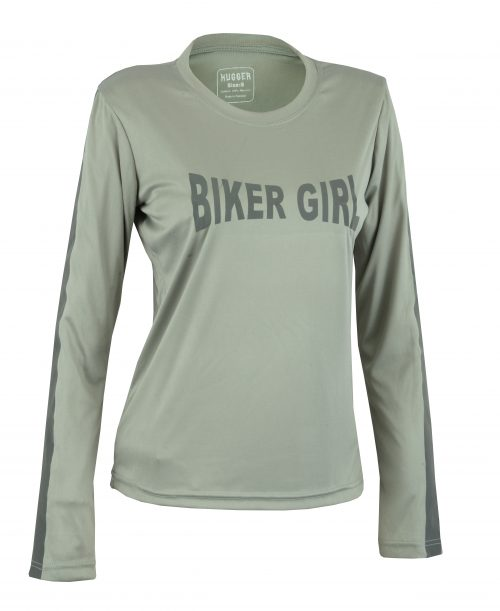 Women's Reflective Shirt -Biker Girl-Grey