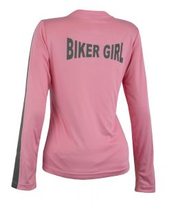 Women's Reflective Shirt -Biker Girl -Pink