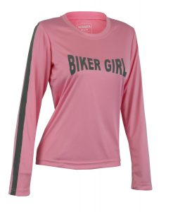 Women's Reflective Shirt -Biker Girl-Pink