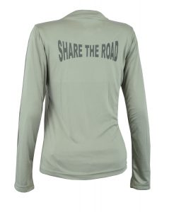 Women's Reflective Shirt -Share the Road -Grey