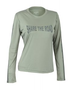 Women's Reflective Shirt -Share the Road-Grey