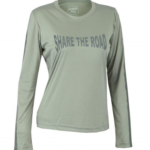 Women's Reflective Shirt -Share the Road-Grey