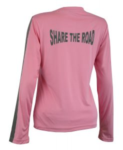 Women's Reflective Shirt -Share the Road-Pink