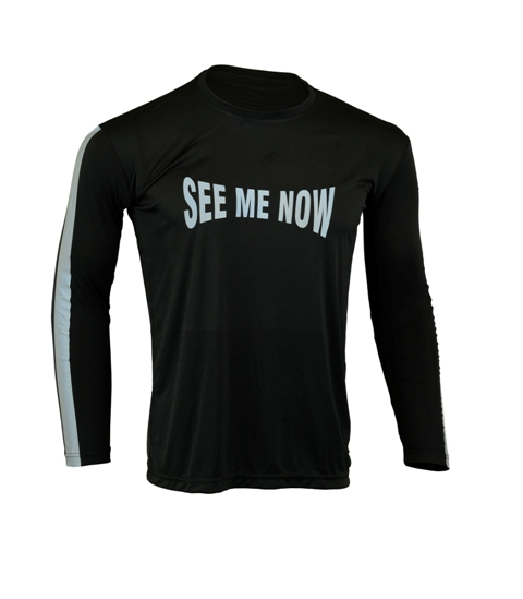 Men's Reflective Shirt -See Me Now-Front