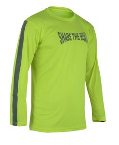 Men's Reflective Shirt -Share the Road-Green