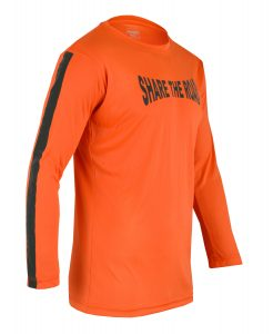 Men's Reflective Shirt -Share the Road-Orange